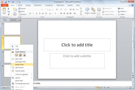 Cómo borrar diapositivas de presentación en PowerPoint ...