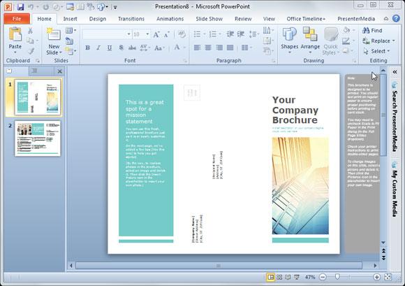 Plantillas De Folletos Simples Para PowerPoint