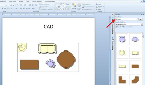 Insertar un archivo cad en powerpoint for Muebles para planos arquitectonicos
