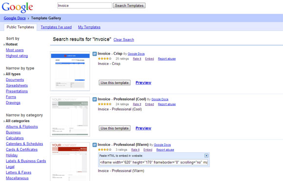 google doc powerpoint templates - plantillas de facturas profesionales para google docs