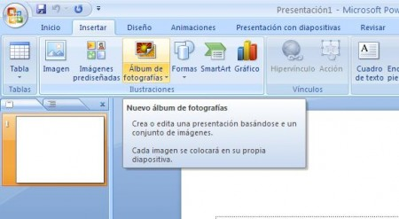 album de fotos en PowerPoint