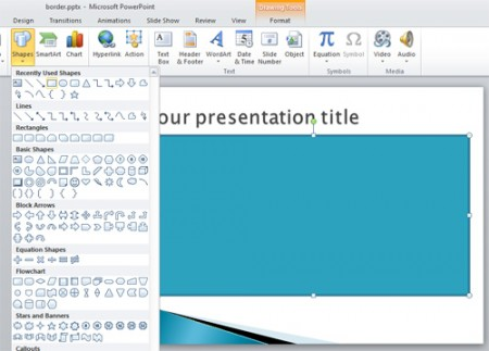crear borde powerpoint