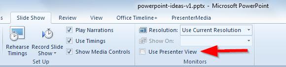 Vista de Presentación en PowerPoint
