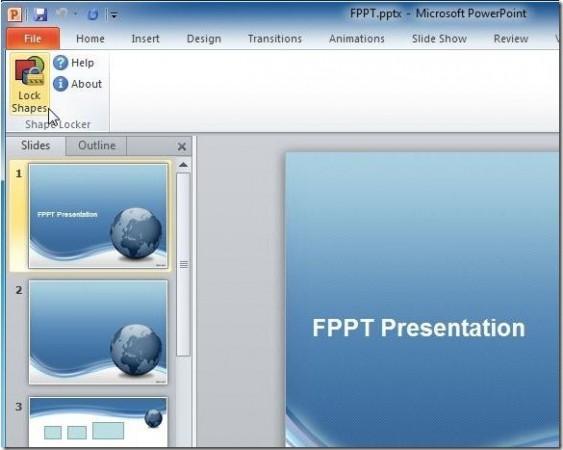 proteger figuras en PowerPoint 2010