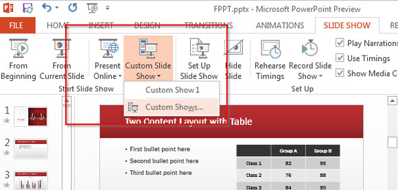 Slideshow personalizado en PowerPoint 2013