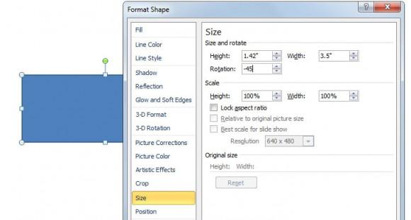 rotar figura en powerpoint