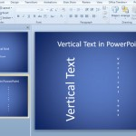 texto vertical powerpoint 2010
