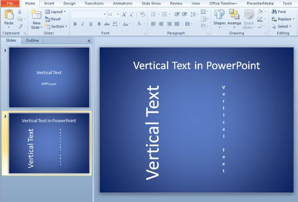 texto vertical powerpoint 2010