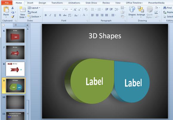 Crear formas 3D en PowerPoint puede ser más sencillo utilizando formas comunes en 2D disponibles en la colección de formas y en las opciones de formato. Hemos visto cómo convertir formas 2D a 3D en PowerPoint