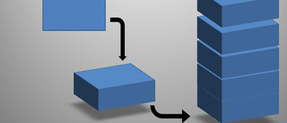 Pila 3D con Formas en PowerPoint 2010