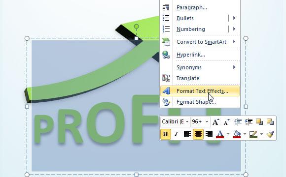 Hacer Texto 3D en PowerPoint 2010