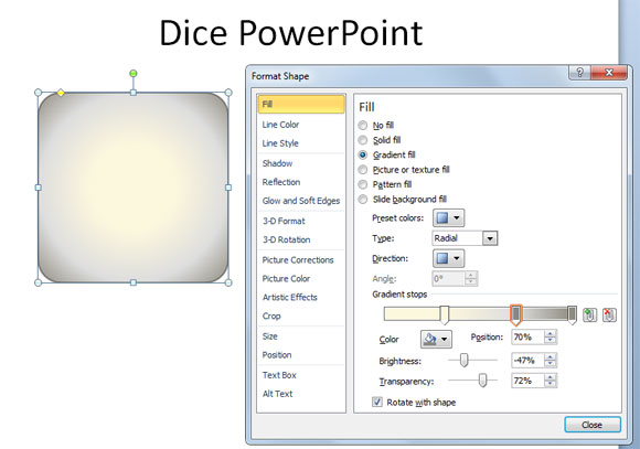 dados powerpoint
