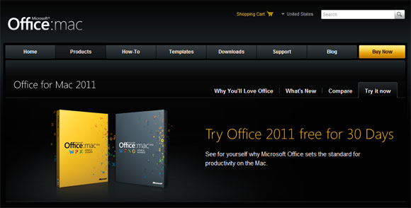 Buy Microsoft Office 2011 for MAC