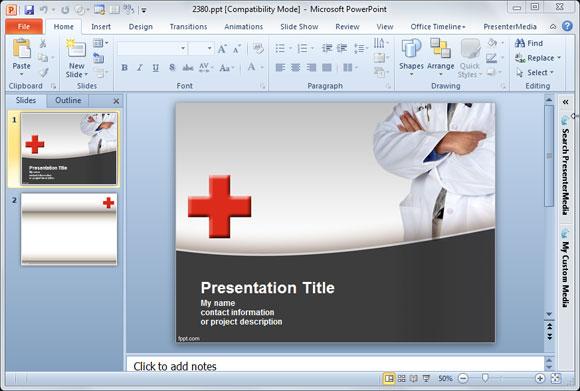 plantillas gratuitas de powerpoint y fondos para asistencia médica y