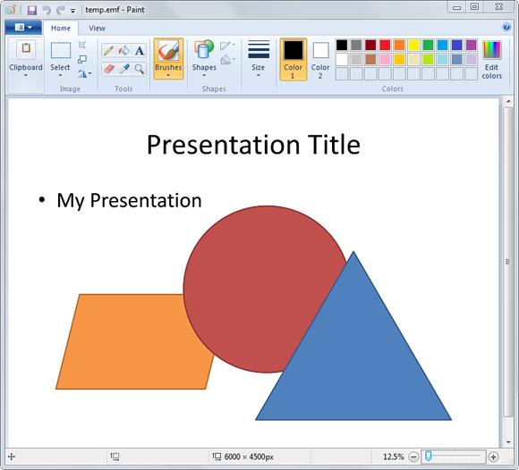 Cómo convertir una presentación de PowerPoint a una imagen vectorial