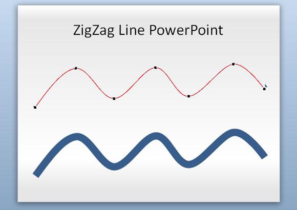 formas zig zag powerpoint