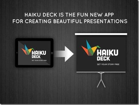 Crear y compartir presentaciones atractivas usando iPad con Haiku Deck
