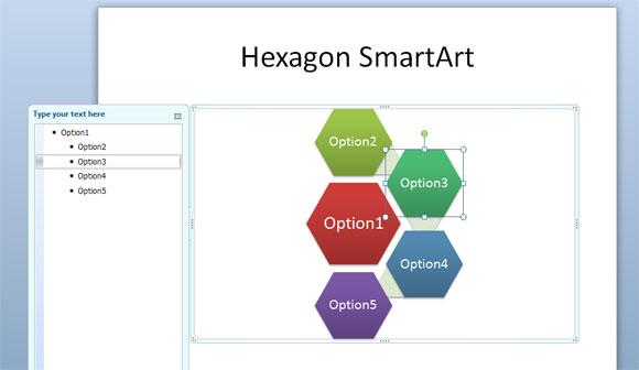 hexagono powerpoint