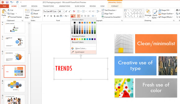 Herramienta para Identificar Color en PowerPoint 2013 (Office 15)