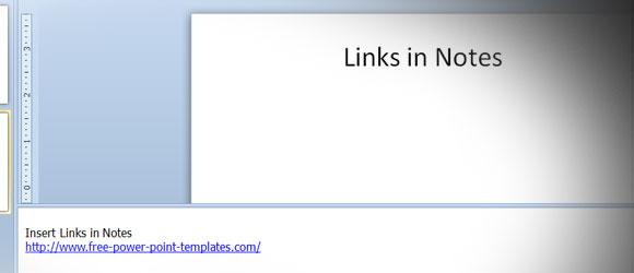 Cómo Insertar un Enlace en la Página de Notas de una Presentación de PowerPoint 2010