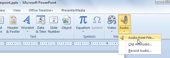 insertar sonido powerpoint
