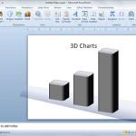 Dibujar un gráfico 3D simple en PowerPoint utilizando formas