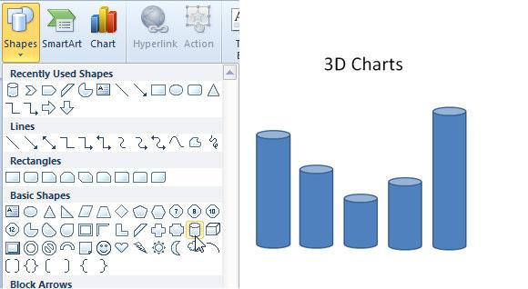 grafico 3d powerpoint
