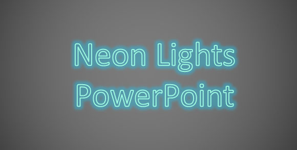 luces de neon powerpoint