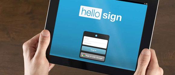 HelloSign para firmar documentos - notebook con aplicación