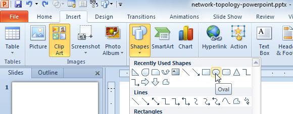 diseño de topología de red en PowerPoint o diagrama de redes
