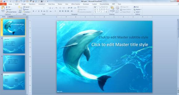 PPT delfin para PowerPoint 2007