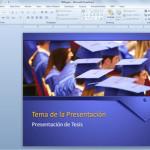 Presentación PowerPoint de Tesis para Graduación