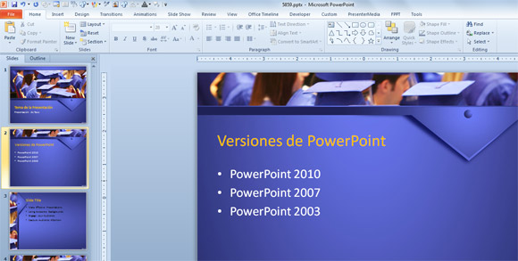 versiones de powerpoint