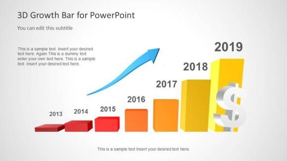 Gráfico de curva de crecimiento para PowerPoint