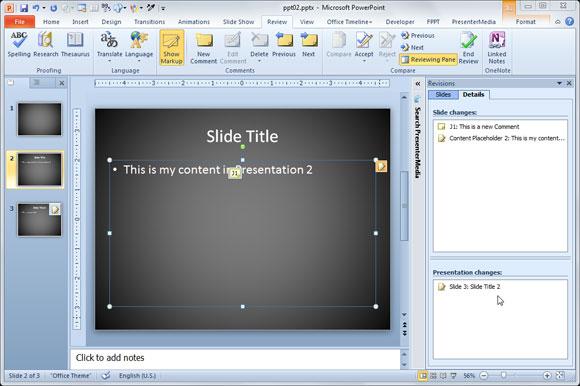 revisiones de PowerPoint