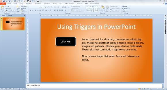 Cómo Usar Triggers en PowerPoint 2010