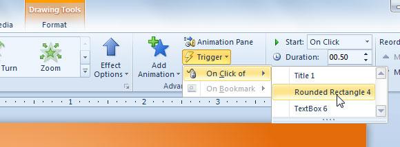 Usar Trigger de PowerPoint