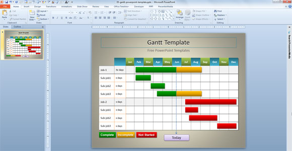 Plantilla de Gantt Simple