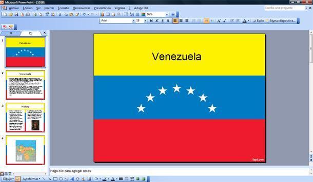 bandera de venezuela powerpoint