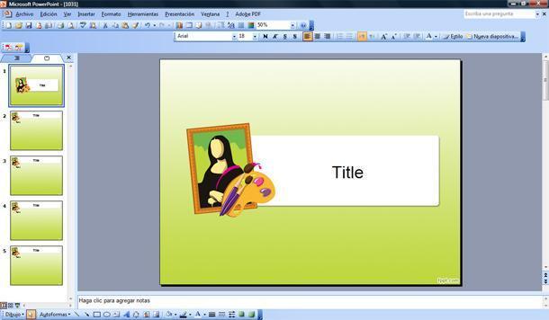 Arte Plantilla PowerPoint | Plantillas PowerPoint Gratis