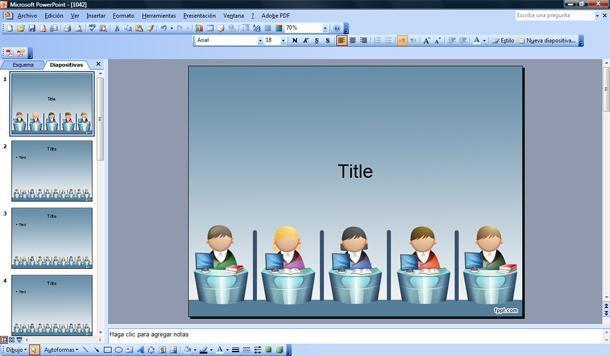 plantilla powerpoint trabajo oficina