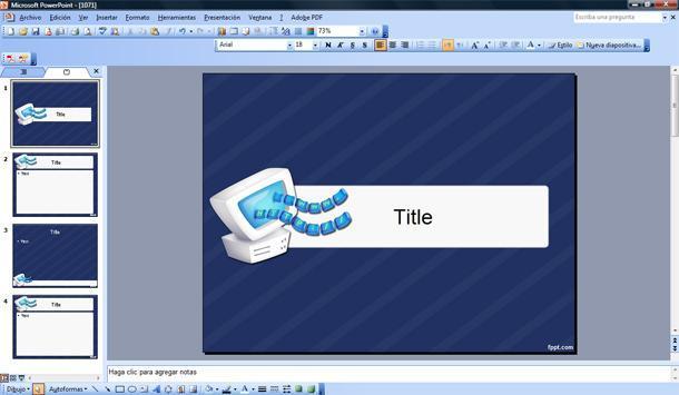 powerpoint template datos