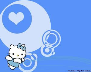Hello Kitty angel Powerpoint PPT Template