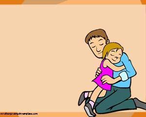 Plantilla Padre e Hija PowerPoint de Familia PPT Template