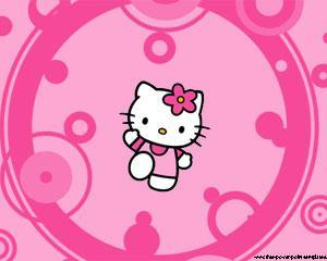 Plantilla PowerPoint de Hello Kitty