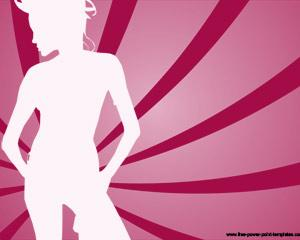 girl silhouette powerpoint template