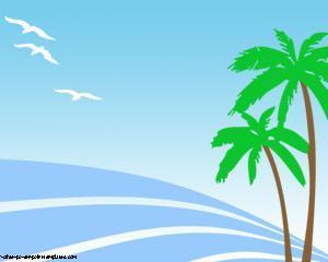 Palmeras en la Playa Powerpoint