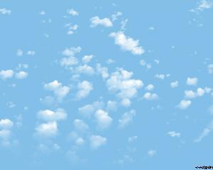 Clouds in the Sky Powerpoint Template
