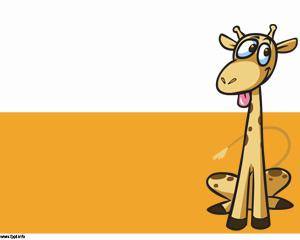 Giraffe cartoon power point template