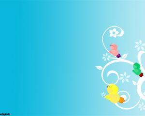 Little Birds Powerpoint Template